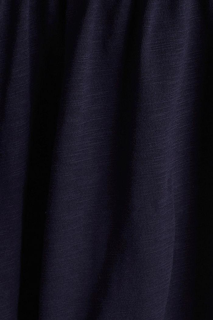 Vestido de estilo camisón, 100% algodón ecológico, NAVY, detail image number 4