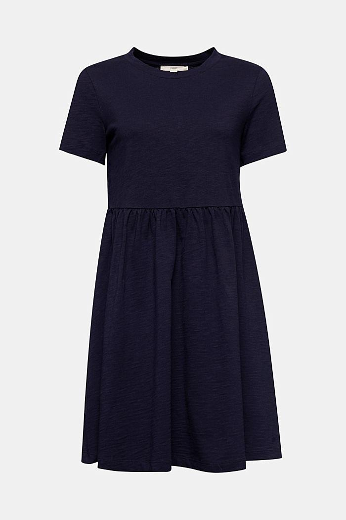 Vestido de estilo camisón, 100% algodón ecológico, NAVY, detail image number 5