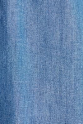 Made of TENCEL™: Denim-look blouse, BLUE LIGHT WASH, detail