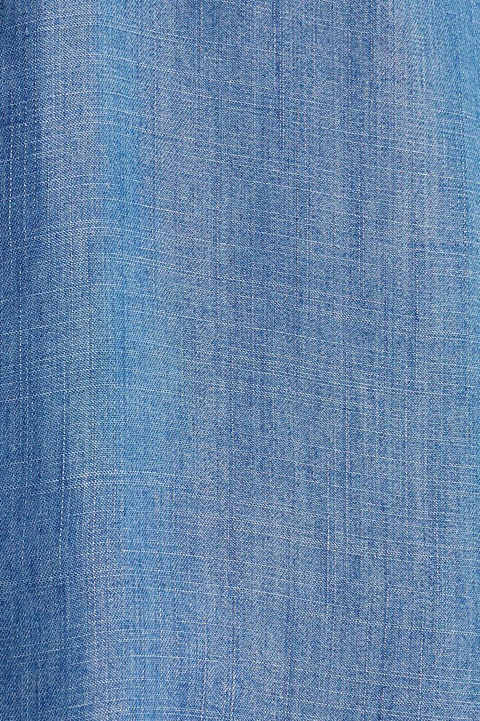 Made of TENCEL™: Denim-look blouse, BLUE LIGHT WASHED, detail image number 4