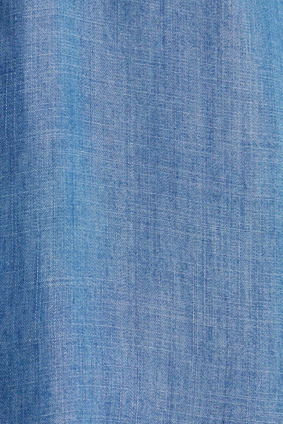 Made of TENCEL™: Denim-look blouse, BLUE LIGHT WASH, detail image number 4