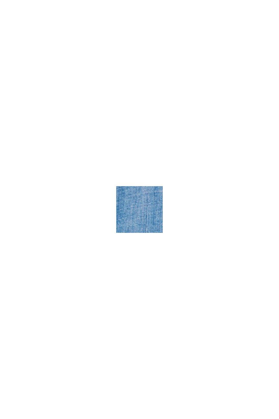 Z tkaniny TENCEL™: bluzka z imitacji dżinsu, BLUE LIGHT WASHED, swatch