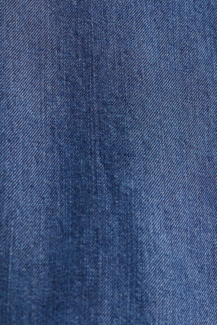 Van TENCEL™: blouse met zakken, BLUE DARK WASHED, detail image number 4
