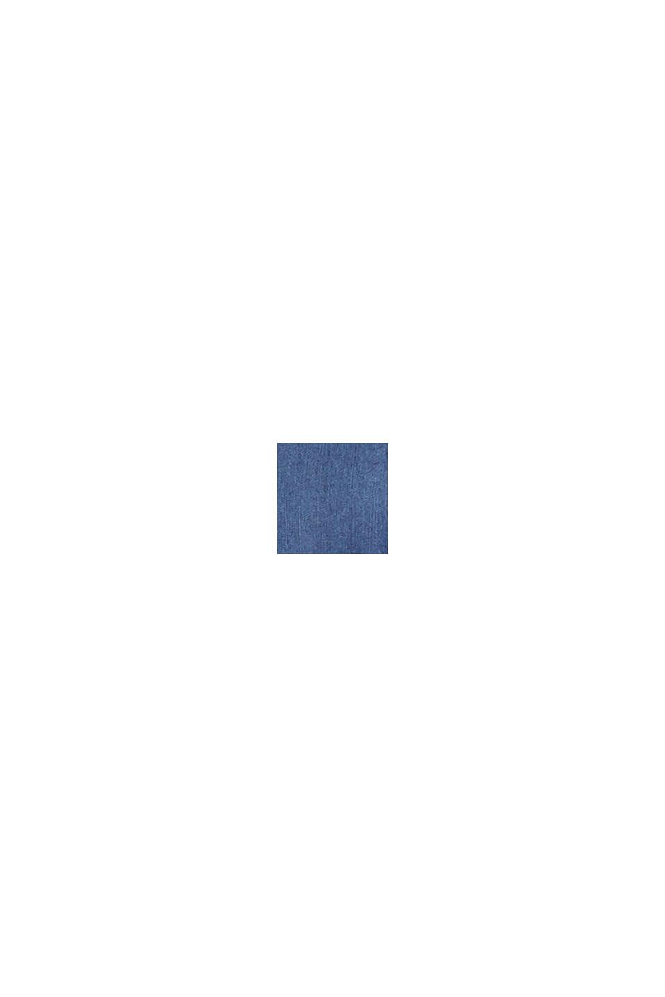 Z tkaniny TENCEL™: bluzka z kieszeniami, BLUE DARK WASHED, swatch