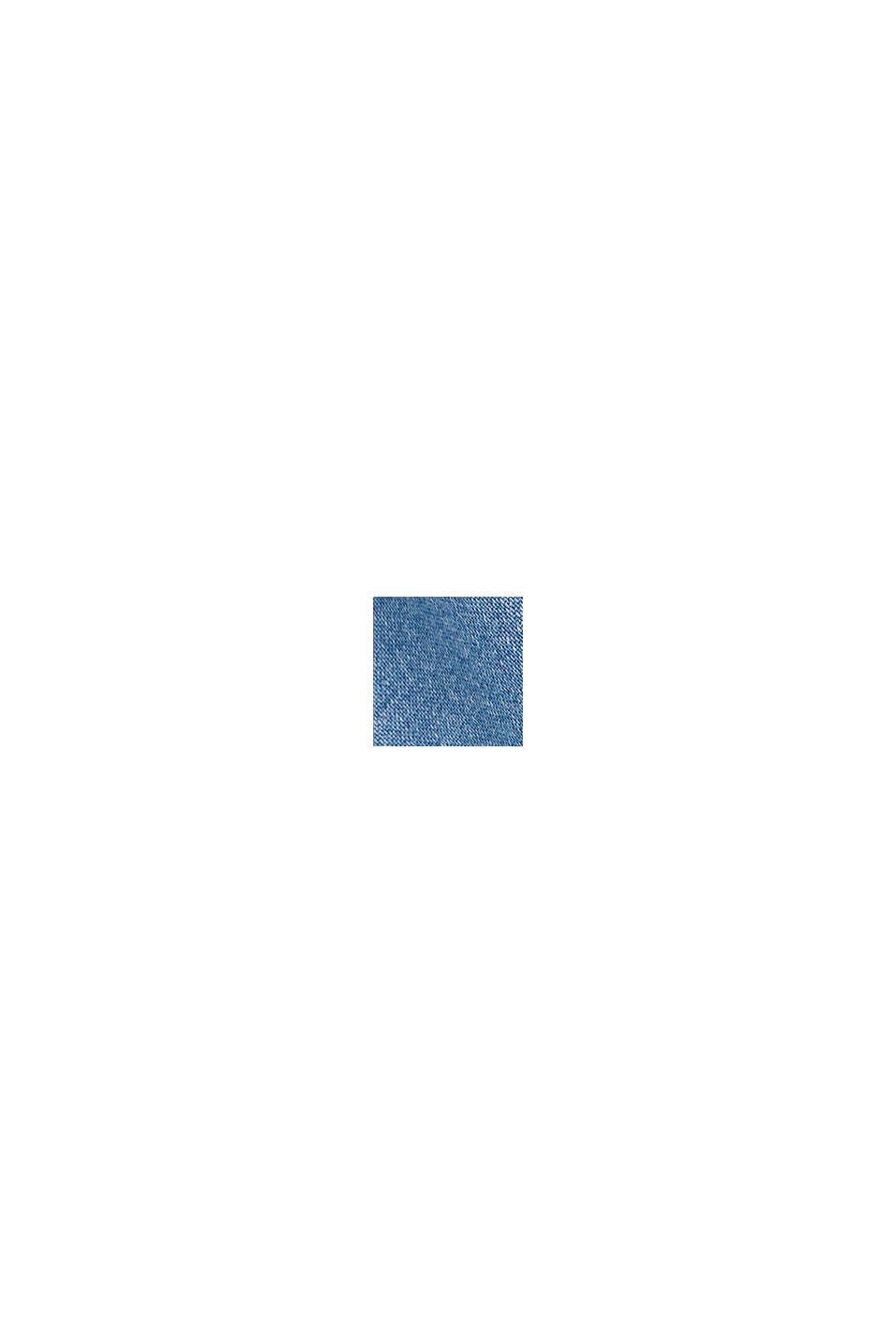 Z tkaniny TENCEL™: bluzka z kieszeniami, BLUE LIGHT WASHED, swatch