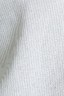 Linen blend: blouse with stripes, LIGHT AQUA GREEN 4, detail