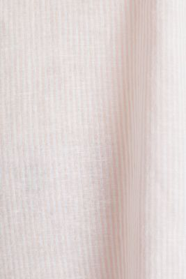 Linen blend: blouse with stripes, PEACH 4, detail