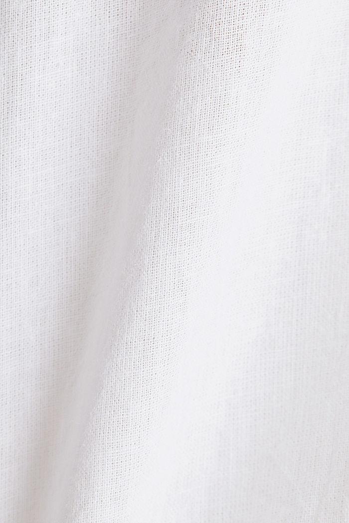 Aus Leinen-Mix: Schlupf-Bluse, WHITE, detail image number 4