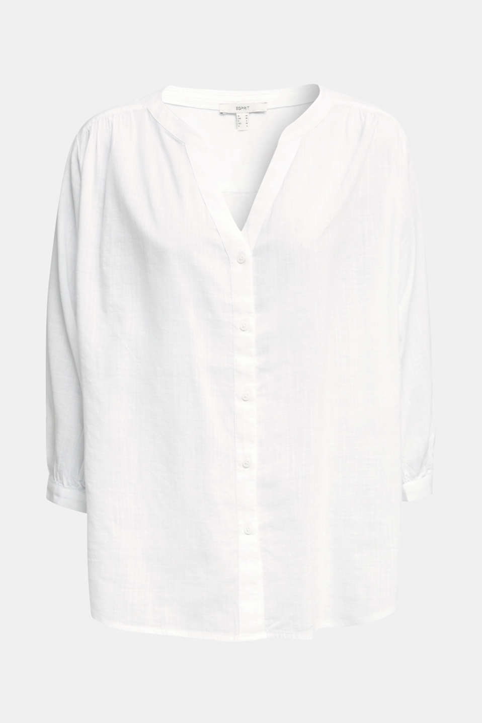 Textured blouse with batwing sleeves, WHITE, detail image number 5