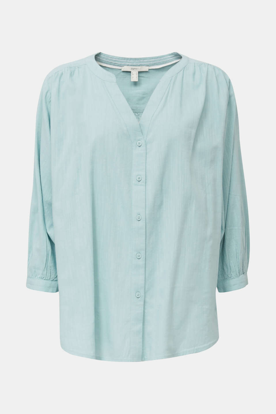 Textured blouse with batwing sleeves, LIGHT AQUA GREEN, detail image number 7