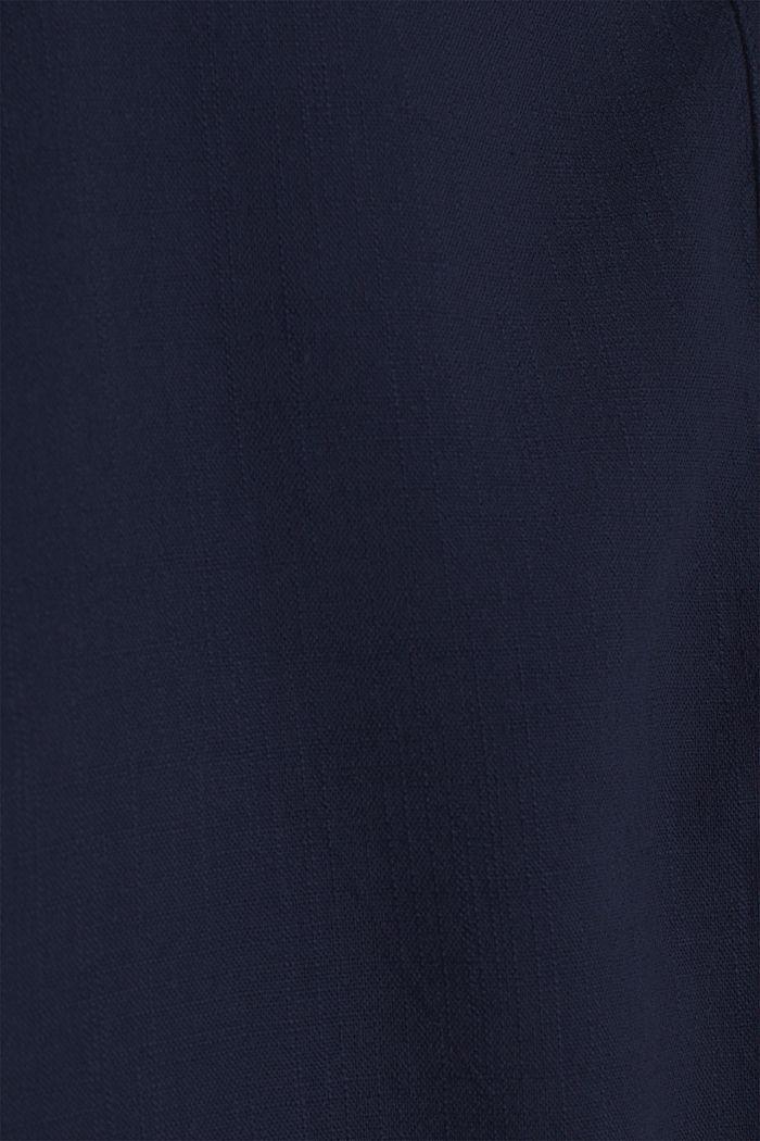 Struktur-Bluse mit Fledermaus-Ärmeln, NAVY, detail image number 4