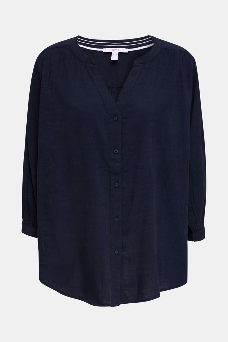 Textured blouse with batwing sleeves, NAVY, detail image number 6