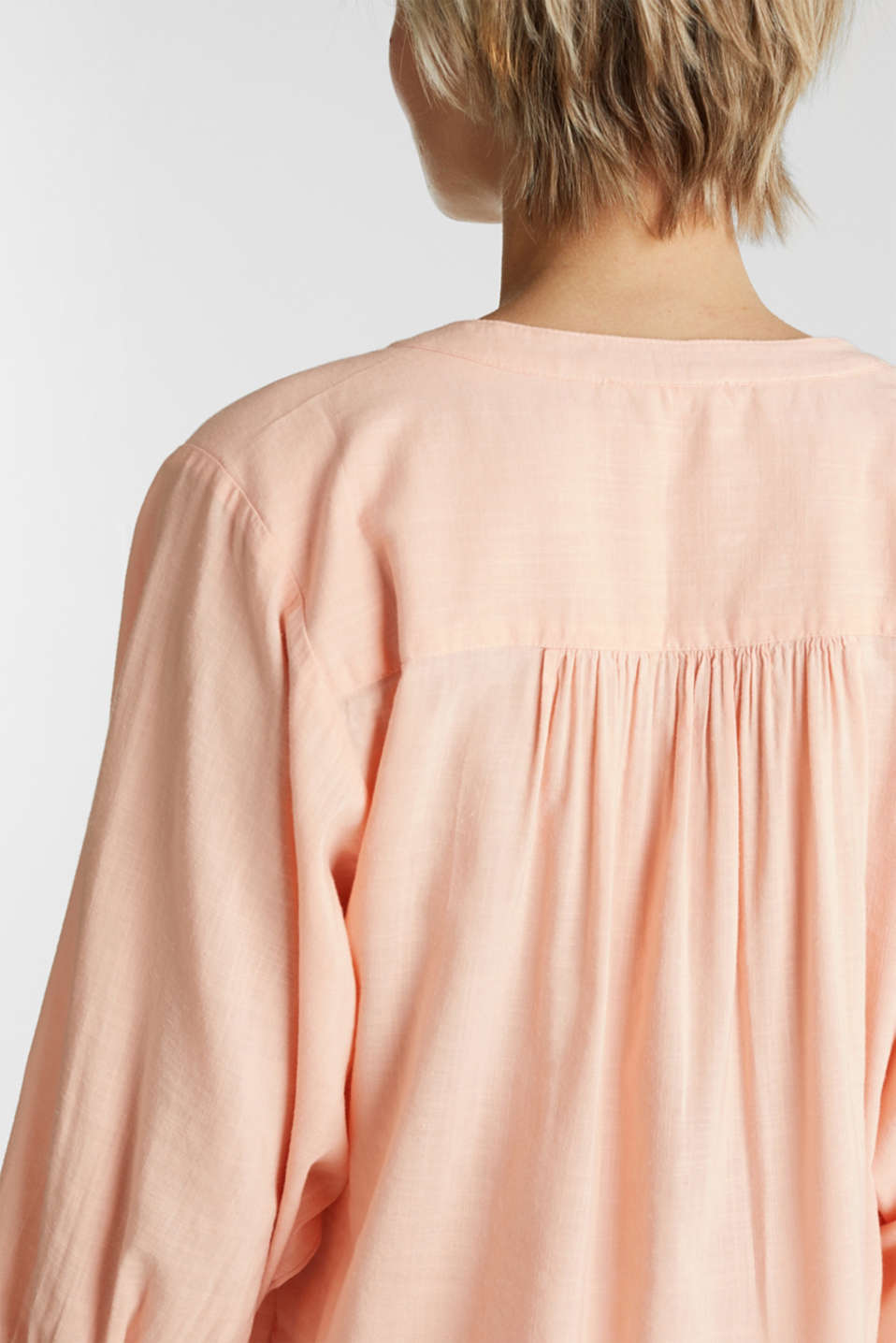 Textured blouse with batwing sleeves, PEACH, detail image number 5