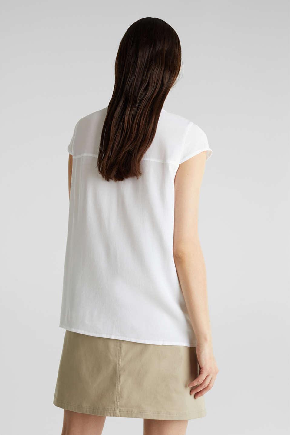Crêpe blouse, LENZING™ ECOVERO™, WHITE, detail image number 3