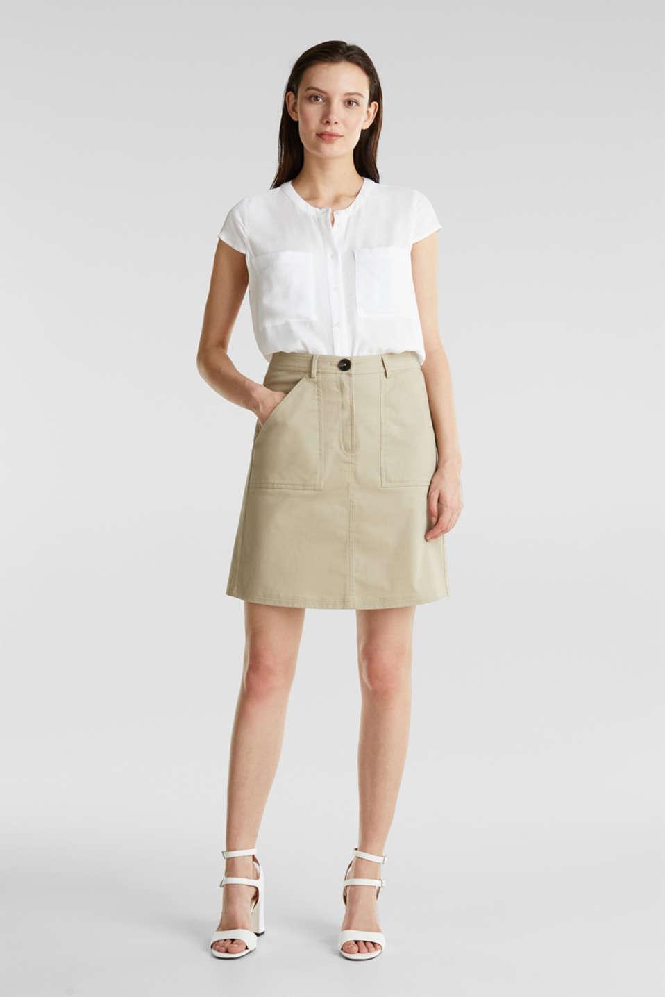 Crêpe blouse, LENZING™ ECOVERO™, WHITE, detail image number 1