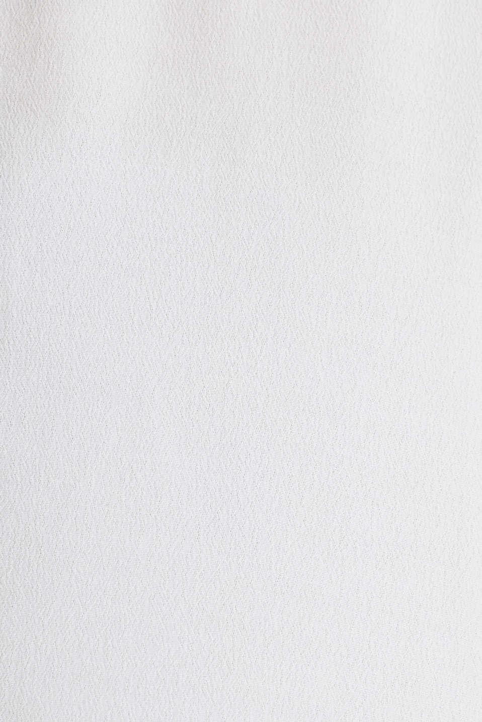 Crêpe blouse, LENZING™ ECOVERO™, WHITE, detail image number 4