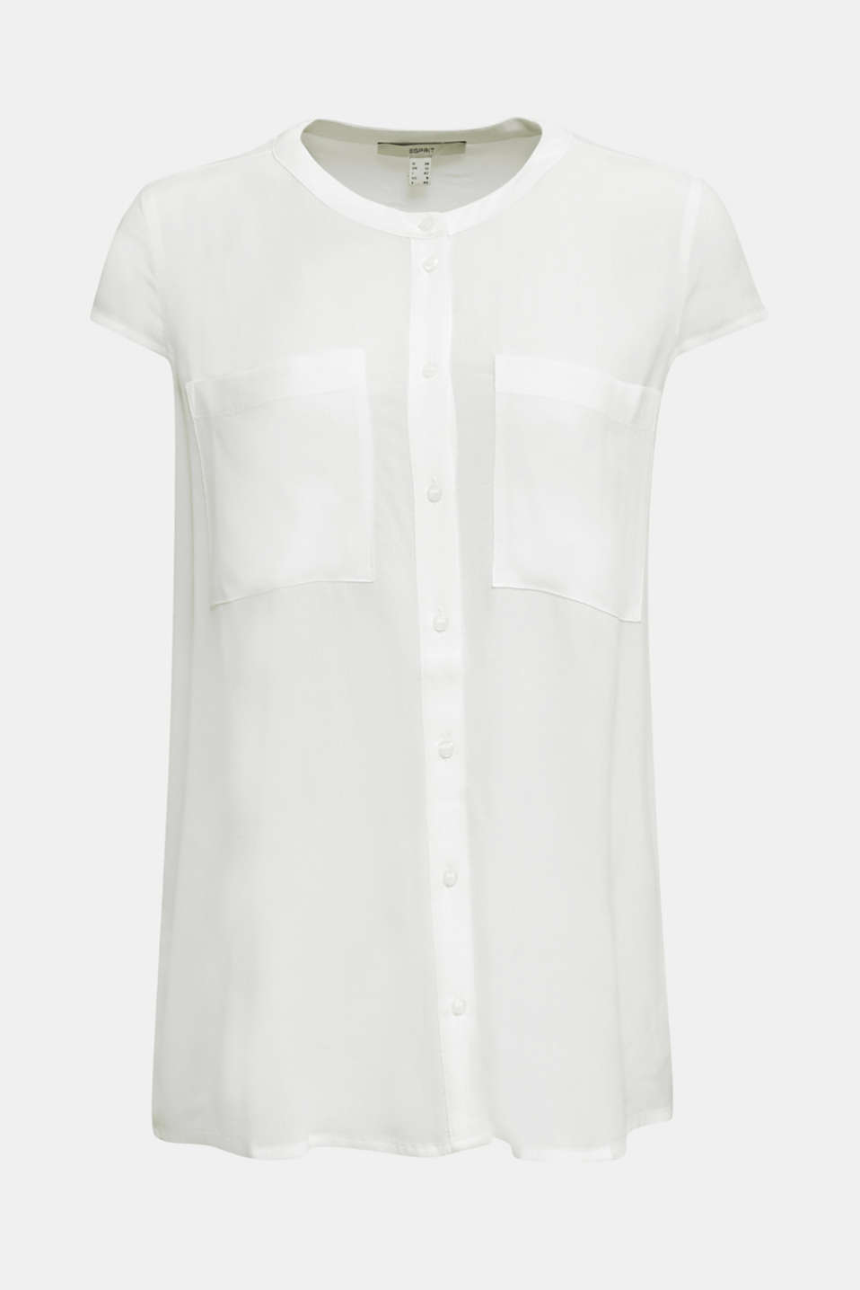 Crêpe blouse, LENZING™ ECOVERO™, WHITE, detail image number 6