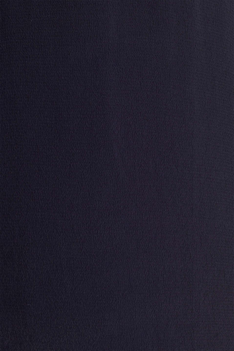 Crêpe blouse, LENZING™ ECOVERO™, NAVY, detail image number 4