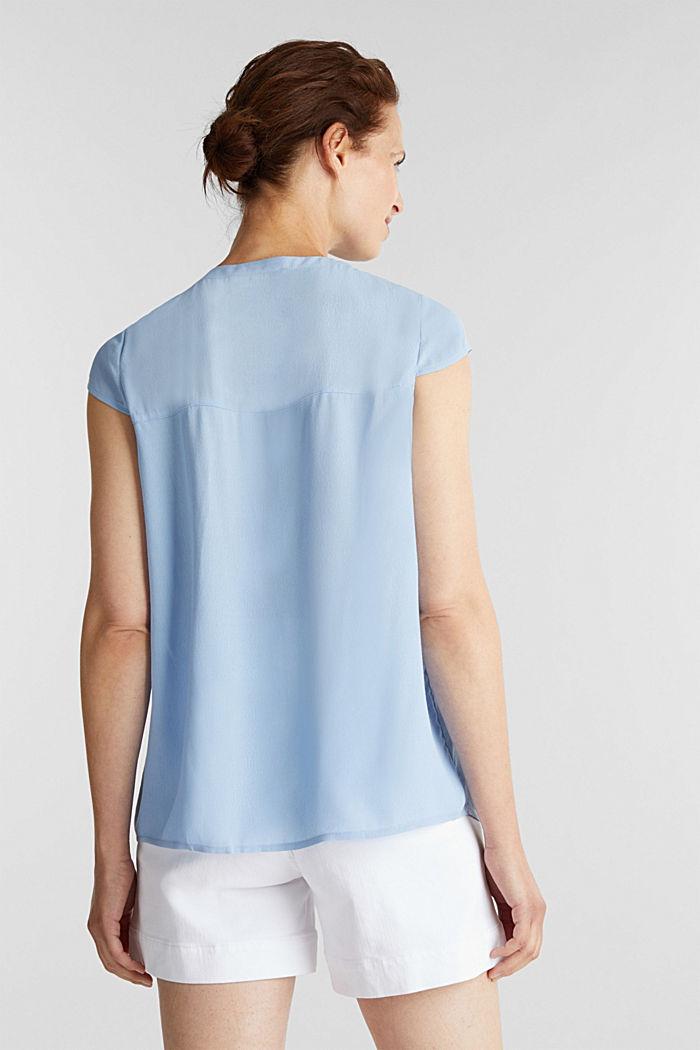 Crêpe blouse, LENZING™ ECOVERO™, LIGHT BLUE, detail image number 3