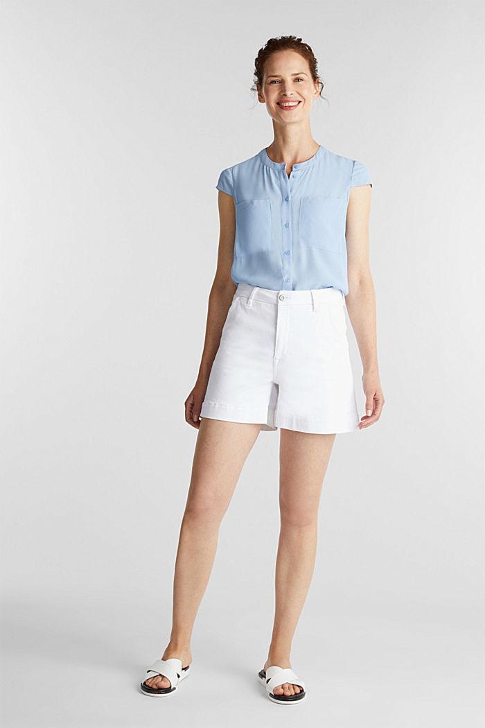 Crêpe blouse, LENZING™ ECOVERO™, LIGHT BLUE, detail image number 1