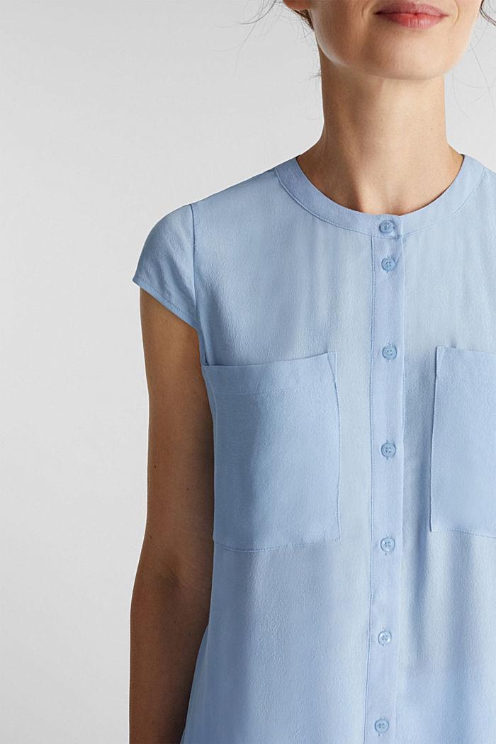 Crêpe-Bluse, LENZING™ ECOVERO™, LIGHT BLUE, detail image number 2
