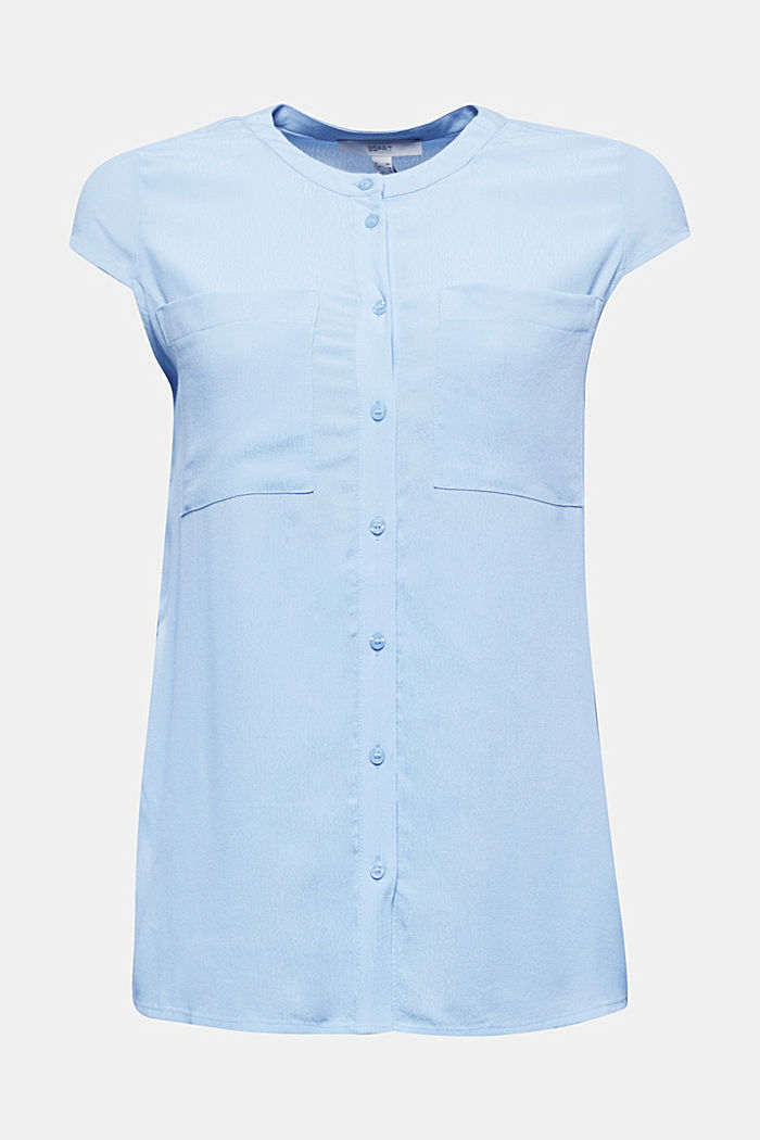 Crêpe blouse, LENZING™ ECOVERO™, LIGHT BLUE, detail image number 5