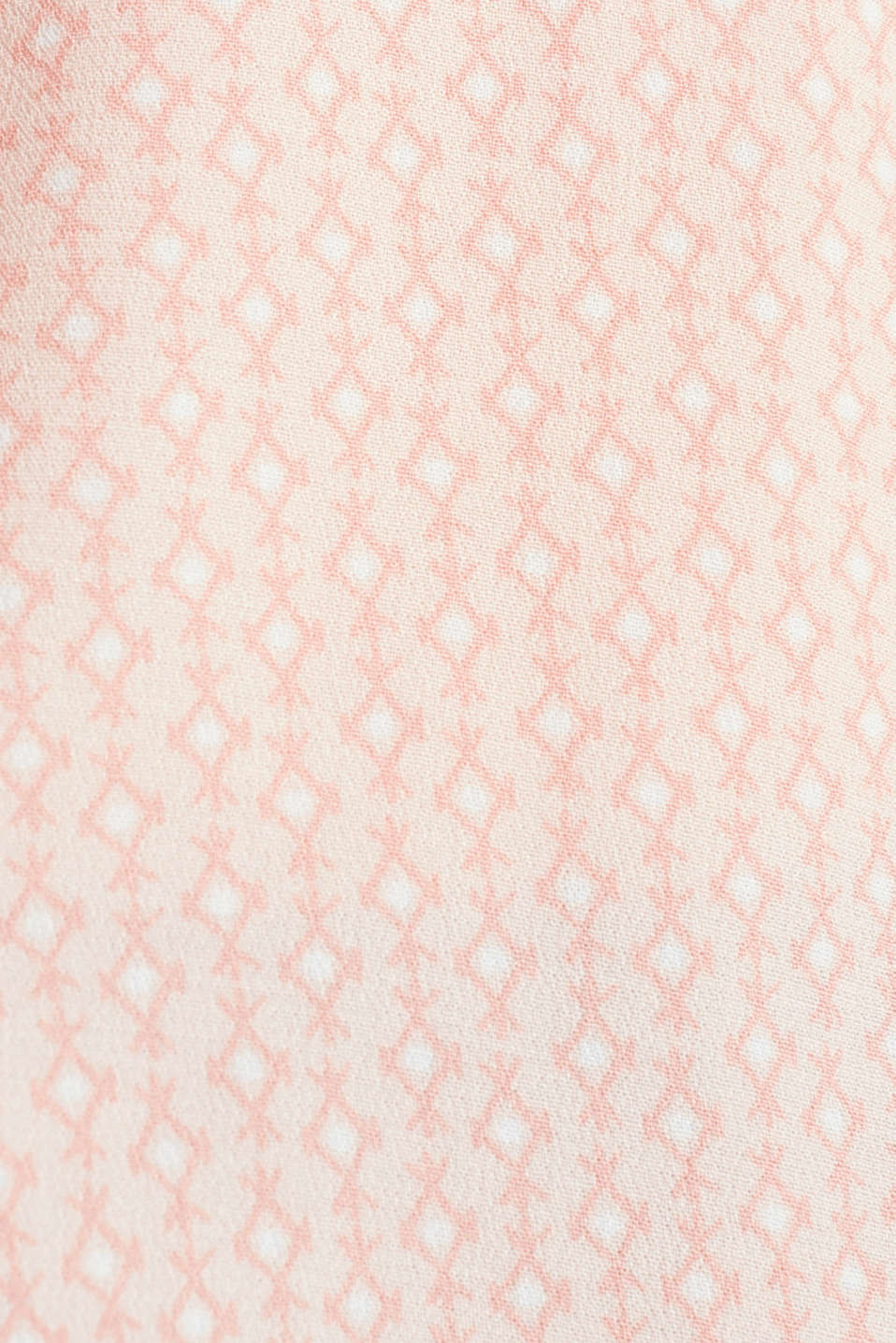 Blouse top in crêpe with a mixed pattern, PEACH 4, detail image number 4