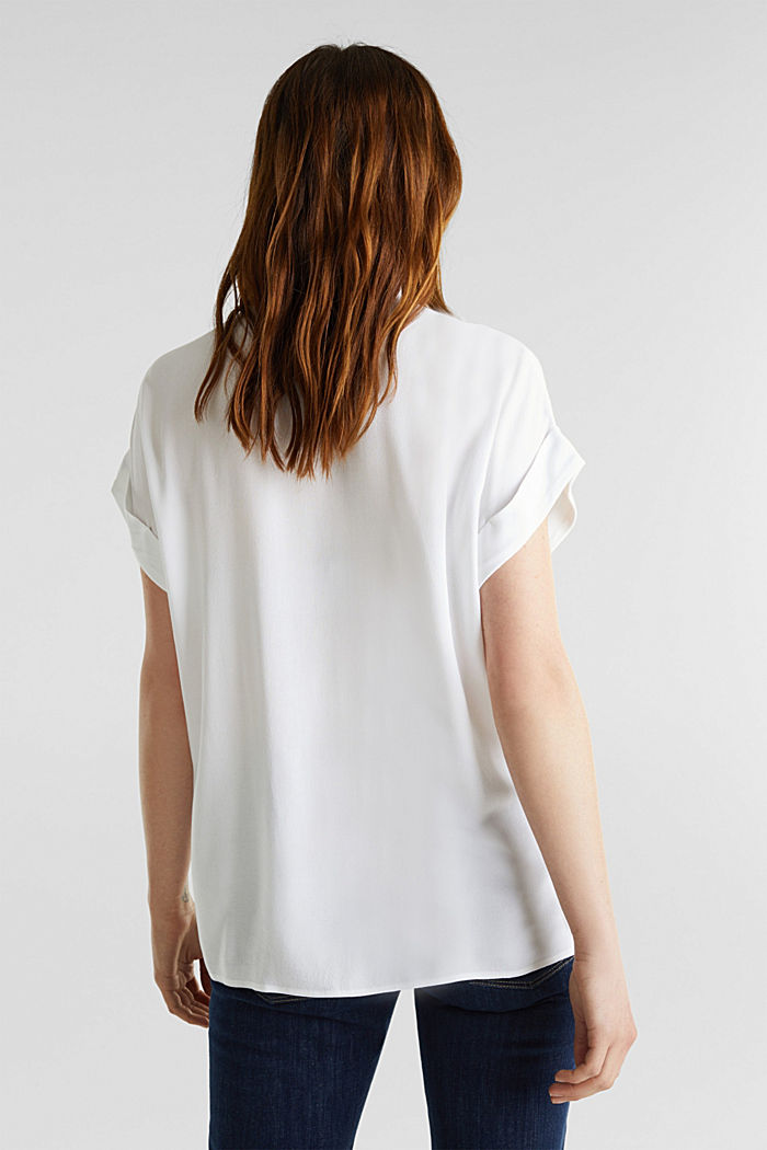 Crêpe blouse top, WHITE, detail image number 2