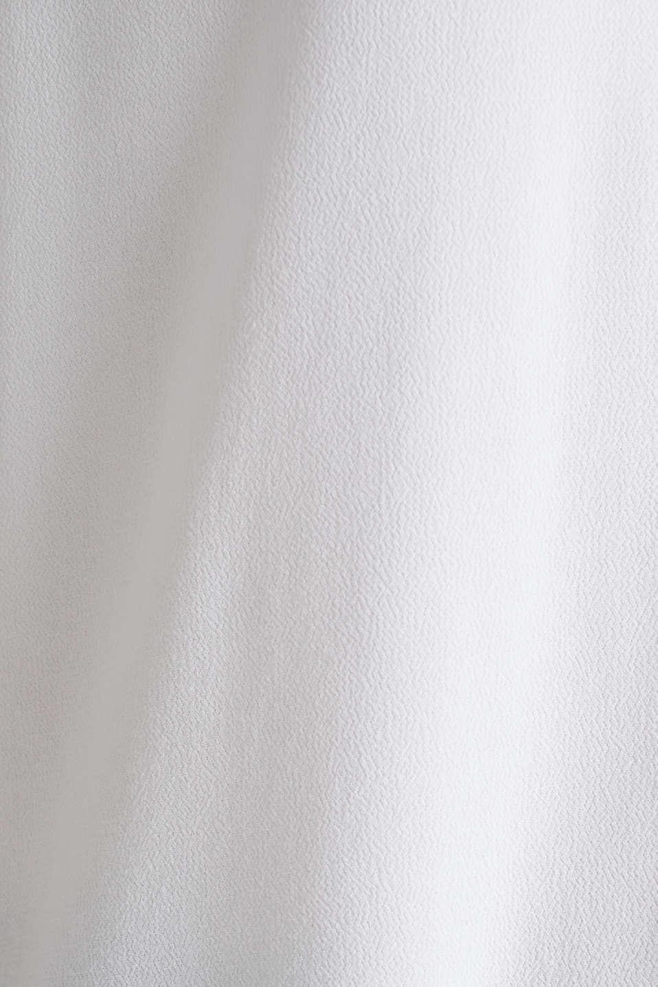 Crêpe blouse top, WHITE, detail image number 3