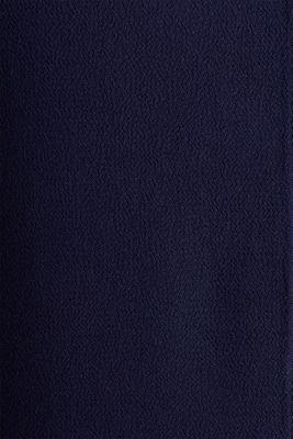 Crêpe blouse top, NAVY, detail