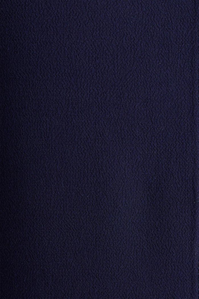 Top façon blouse en crêpe, NAVY, detail image number 4