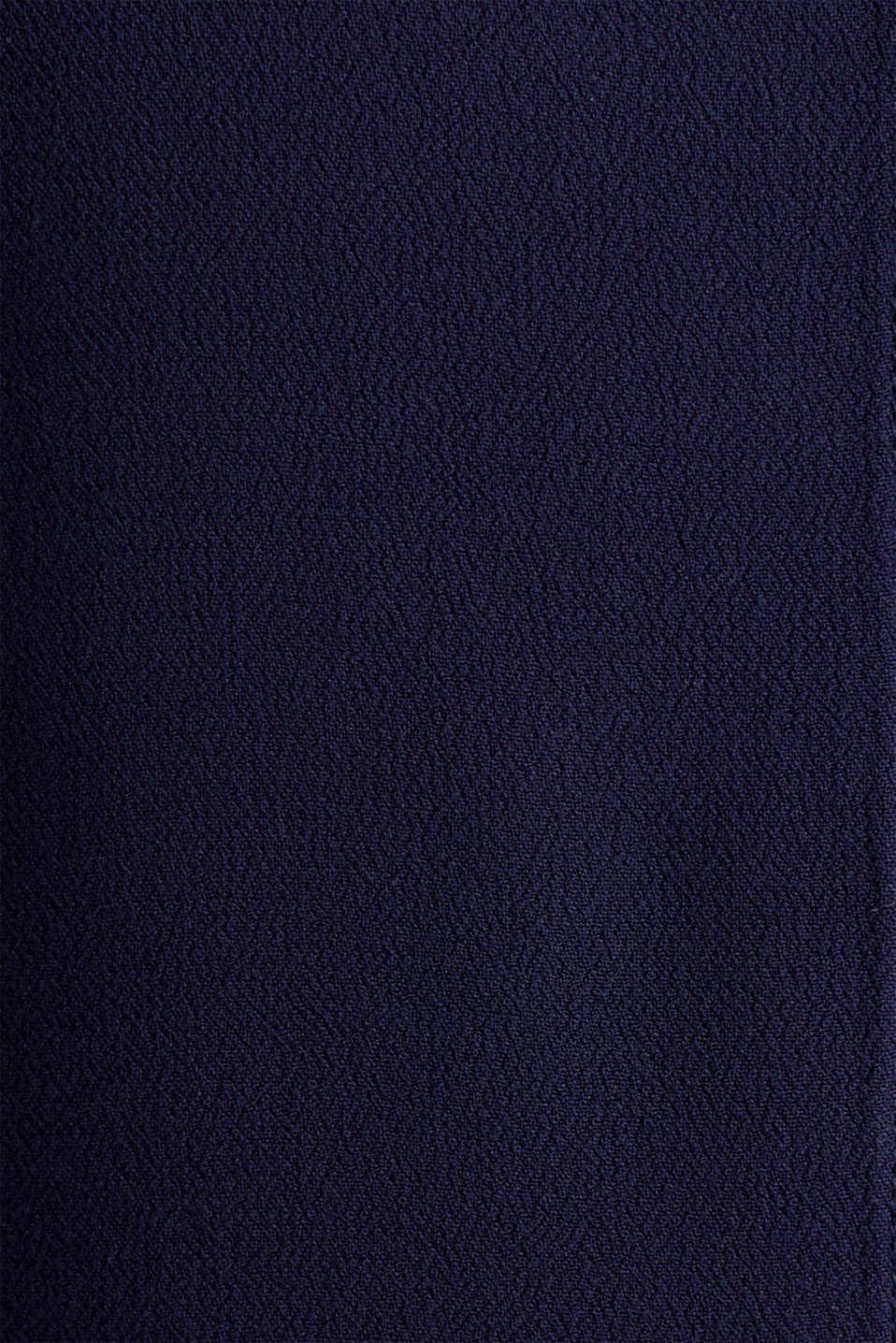 Crêpe blouse top, NAVY, detail image number 4