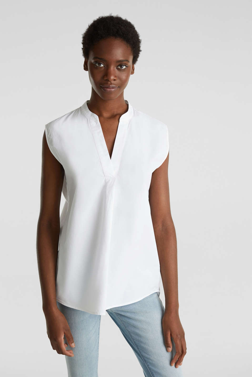 Esprit - Blouse top in 100% organic cotton