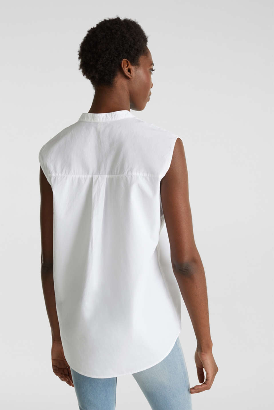 Blouse top made of 100% organic cotton, WHITE, detail image number 3