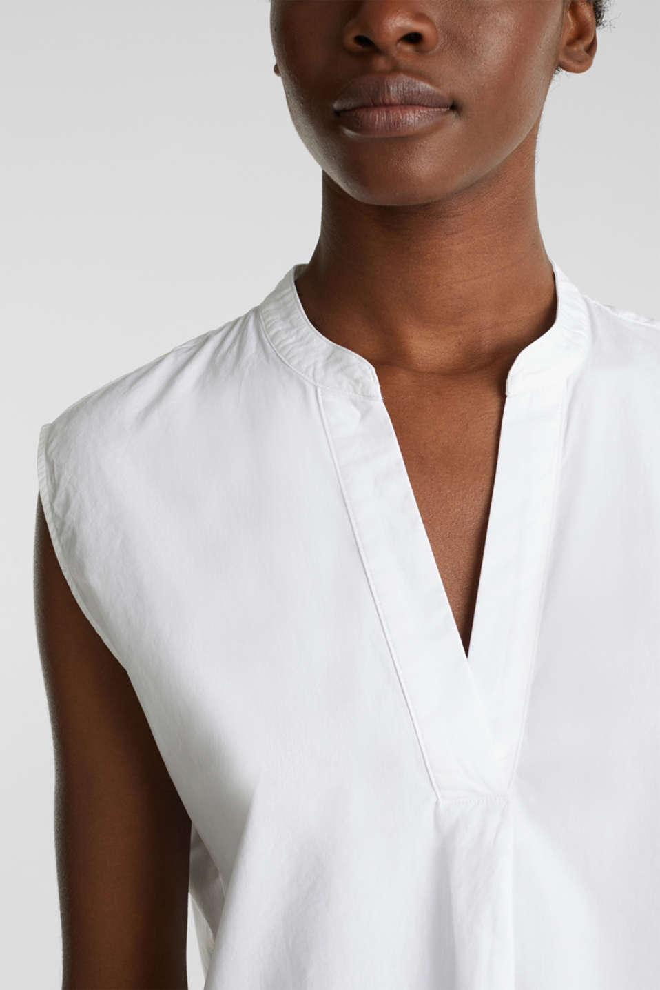 Blouse top made of 100% organic cotton, WHITE, detail image number 2