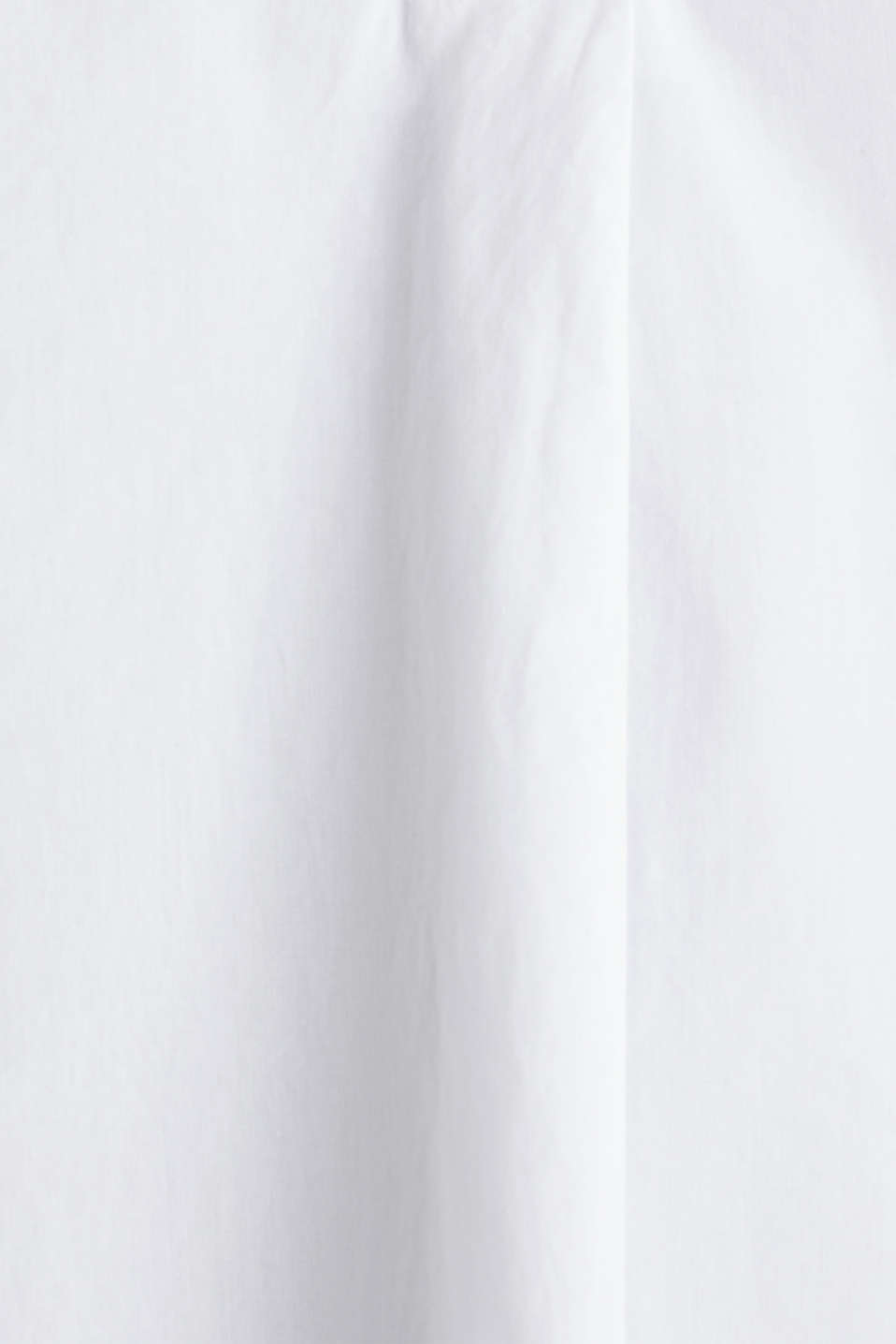 Blouse top made of 100% organic cotton, WHITE, detail image number 4