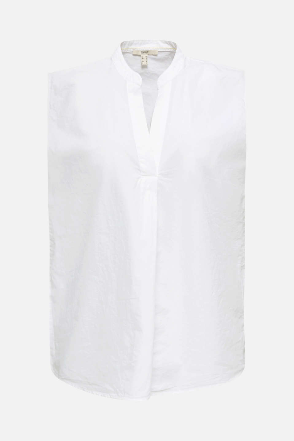 Blouse top made of 100% organic cotton, WHITE, detail image number 6