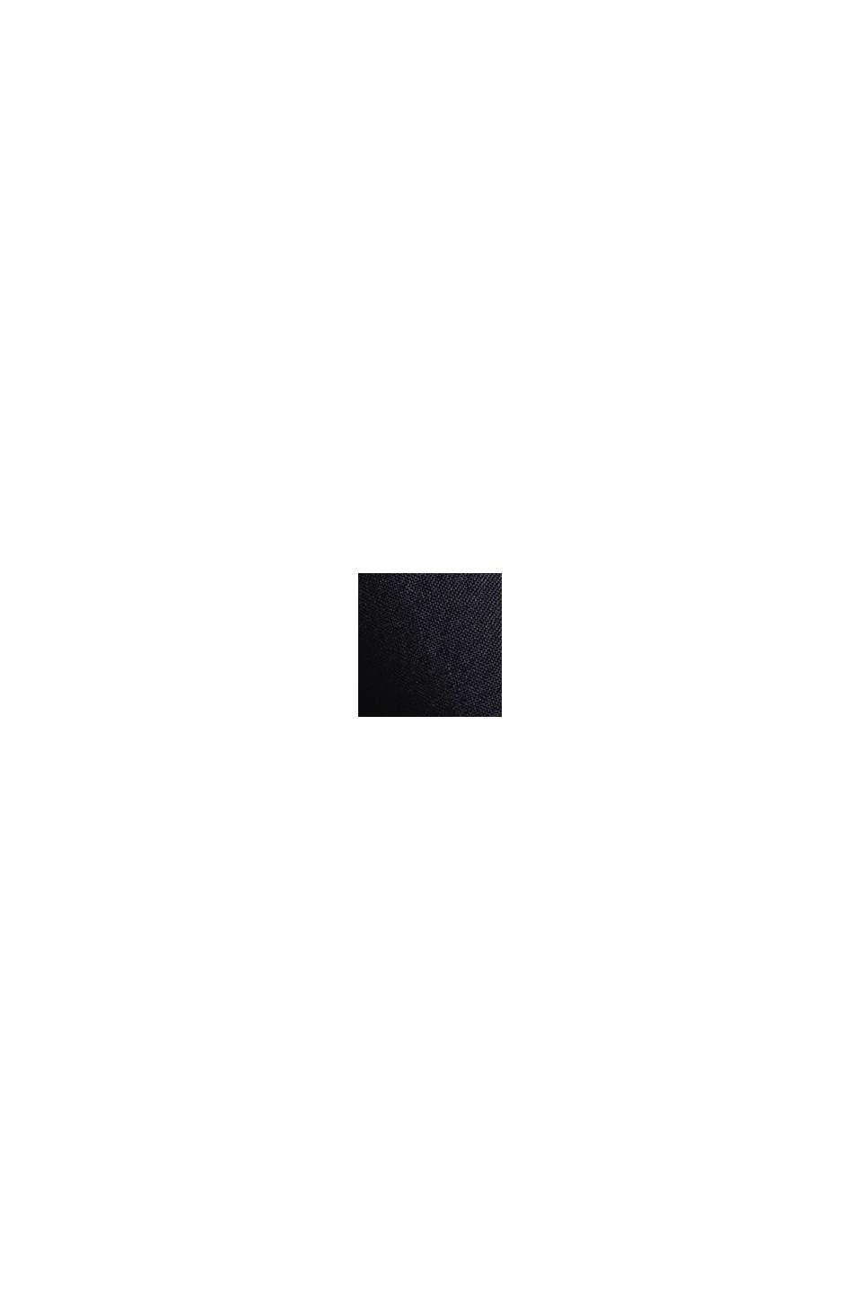 Top blusato con bottoni dietro, BLACK, swatch