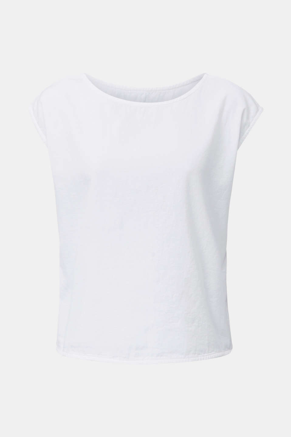 Blouse top with button placket on the back, WHITE, detail image number 6