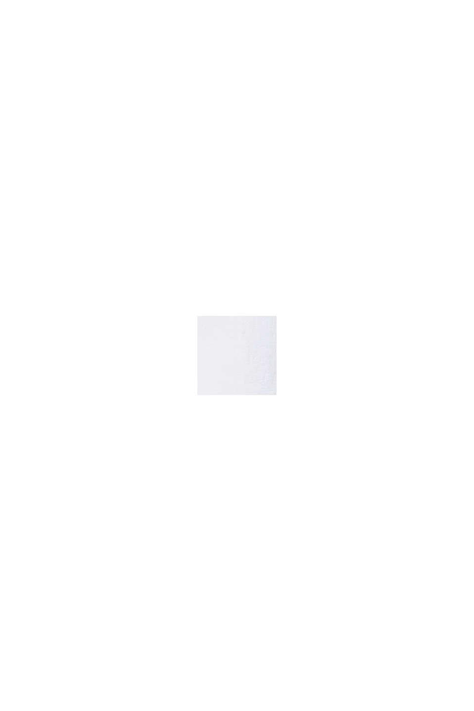 Top blusato con bottoni dietro, WHITE, swatch