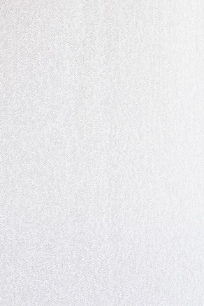 Blusentop aus Crêpe mit Knopfleiste, WHITE, detail image number 3