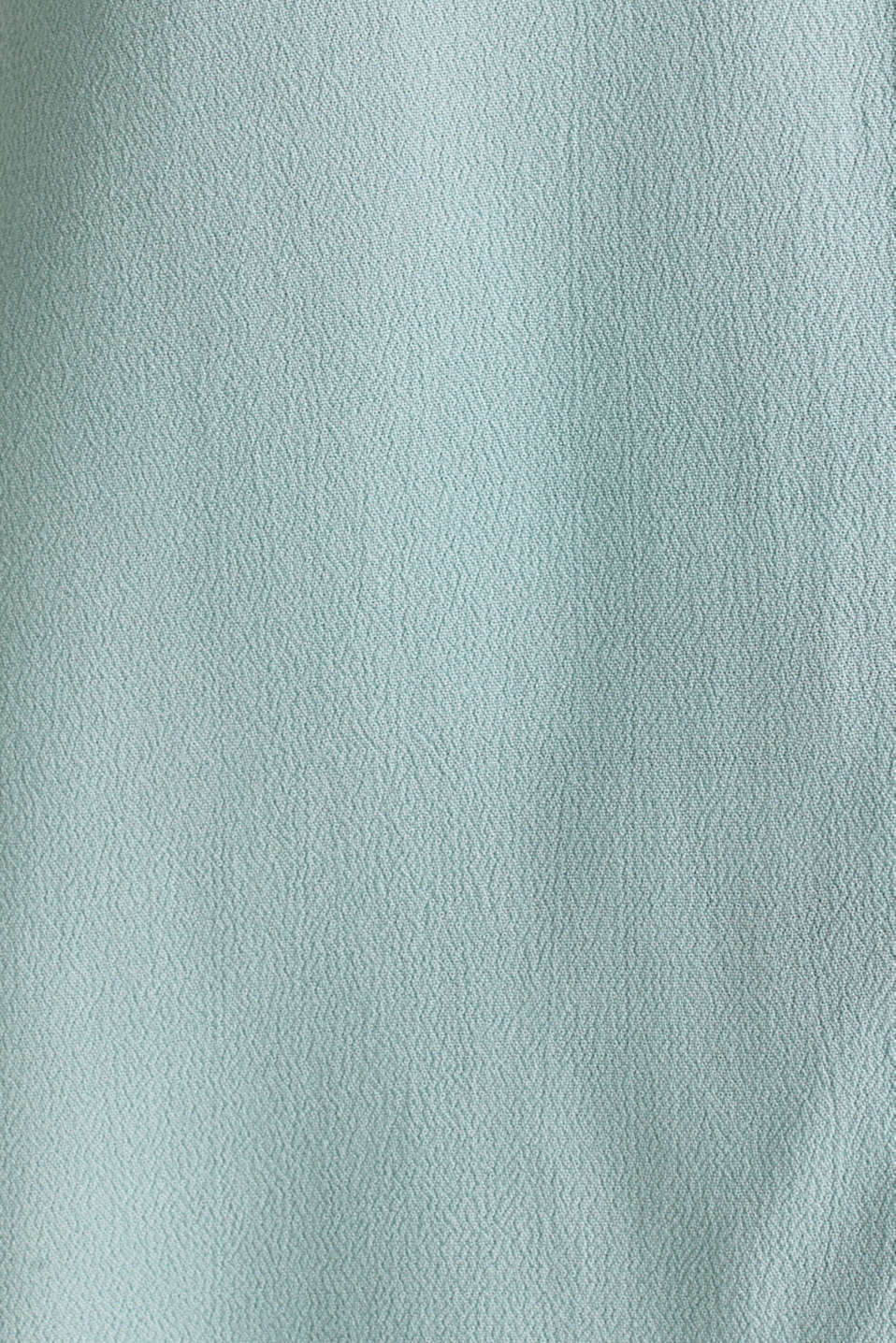 Crêpe blouse top with a button placket, LIGHT AQUA GREEN, detail image number 4
