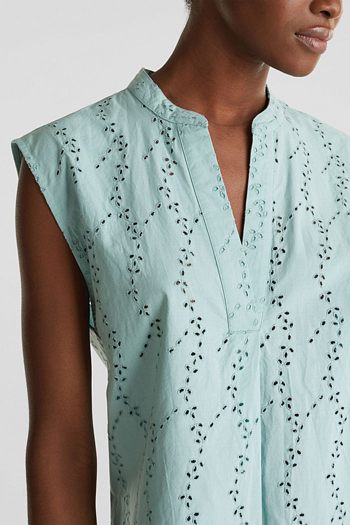 Bluse mit modischem Muster-Mix, LIGHT AQUA GREEN, detail image number 2