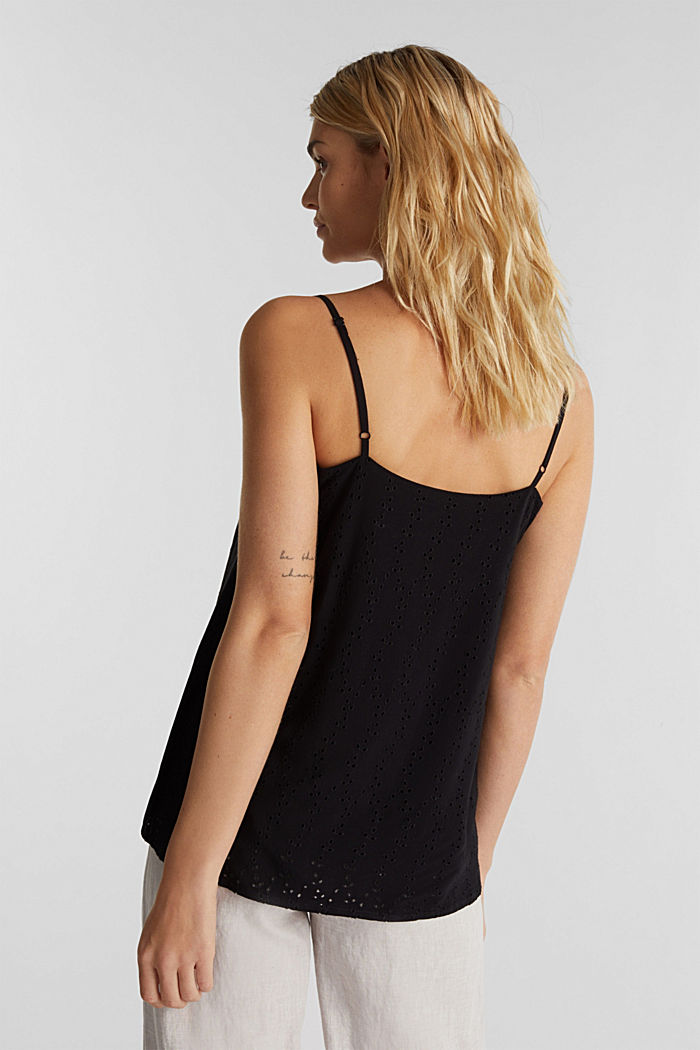 Blouse top with embroidery, BLACK, detail image number 3