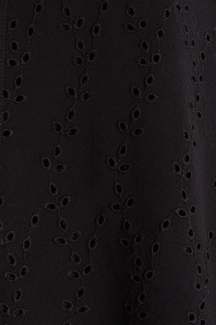 Blusentop mit Stickerei, BLACK, detail image number 4