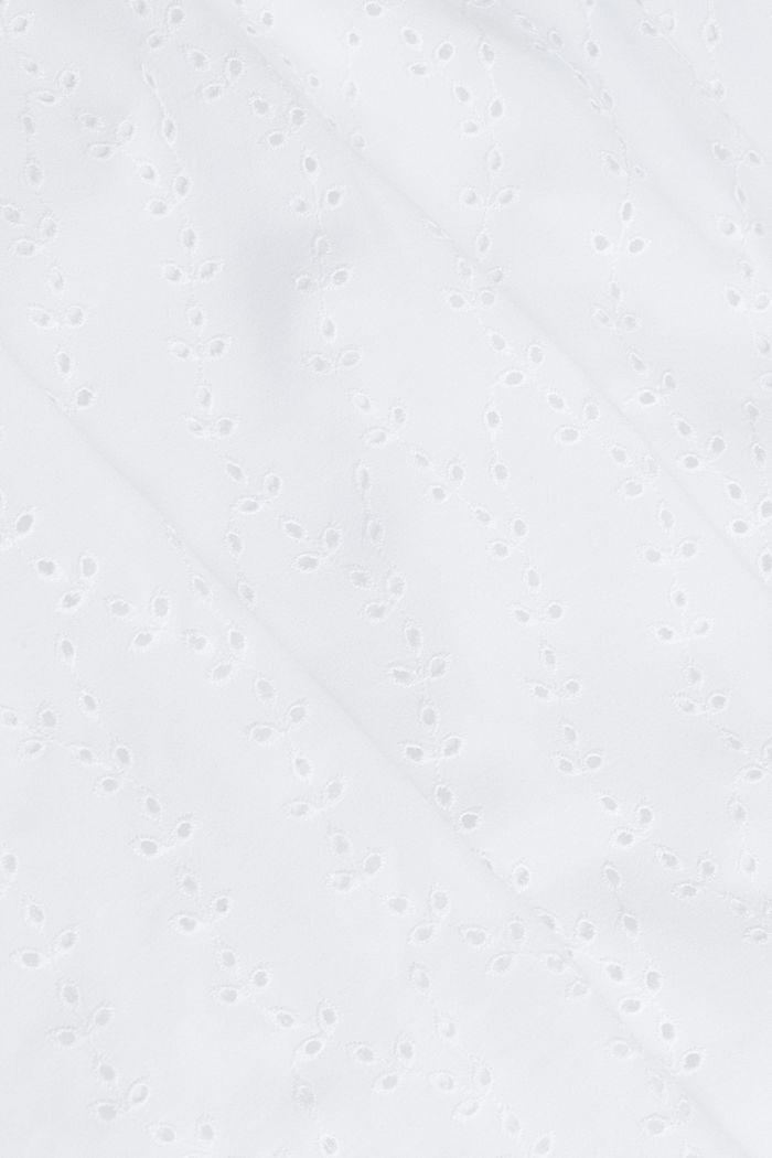 Blusentop mit Stickerei, WHITE, detail image number 4