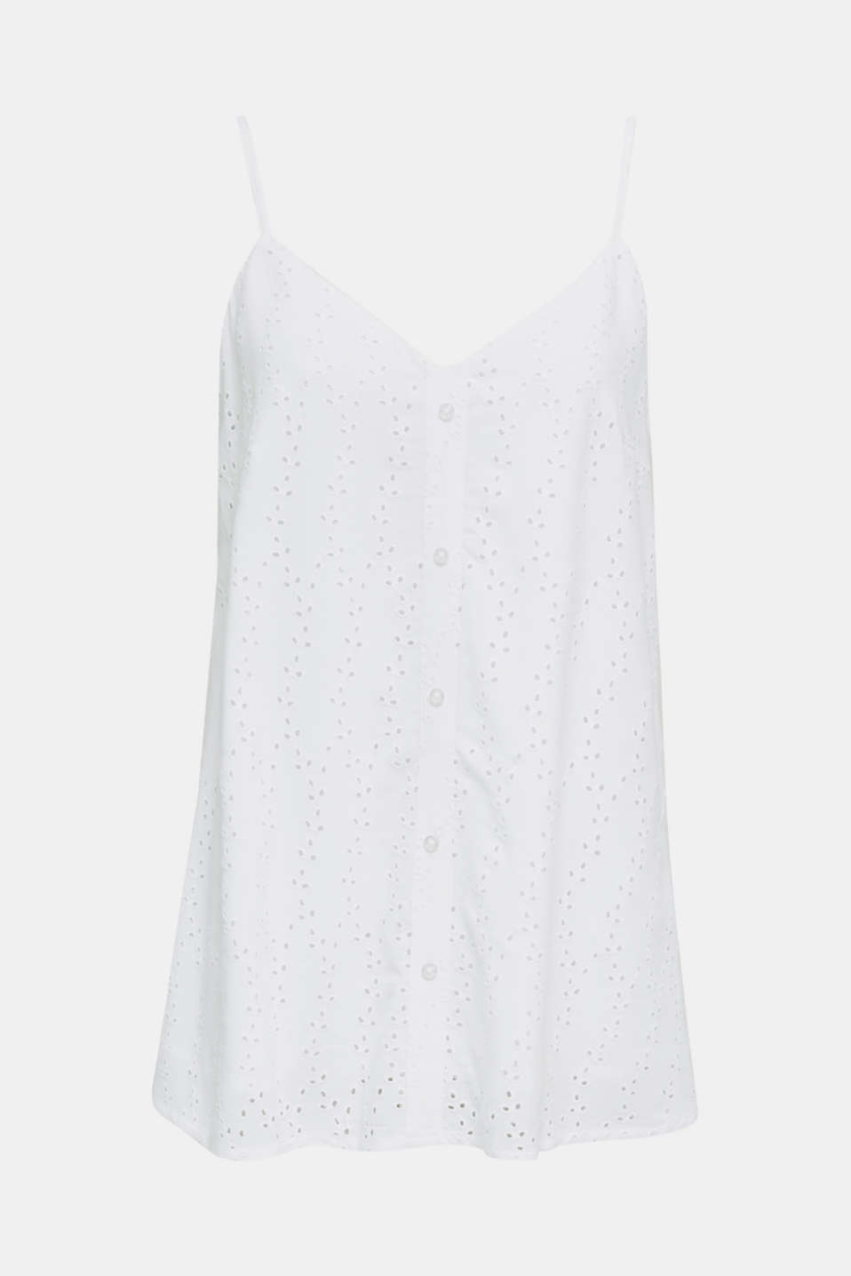Blouse top with embroidery, WHITE, detail image number 6