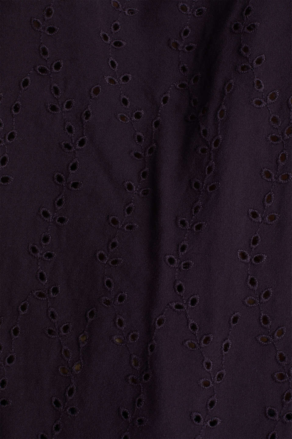 Carmen blouse with broderie anglaise, NAVY, detail image number 3