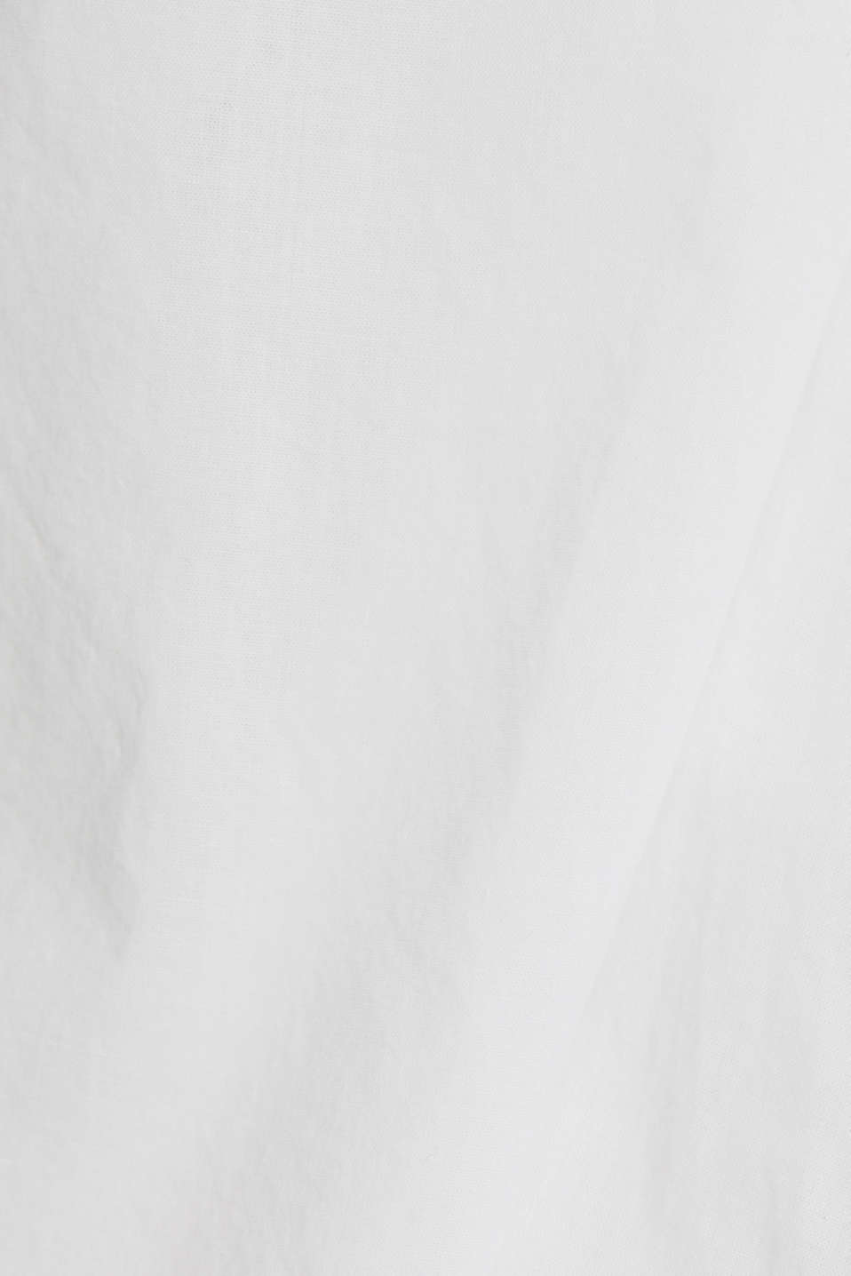 EarthColors® cotton long blouse, WHITE, detail image number 4