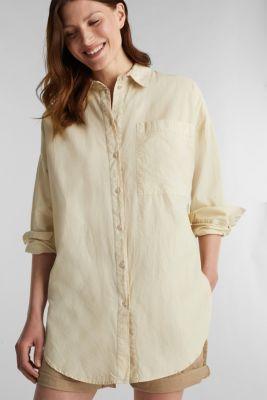 EarthColors® cotton long blouse, SAND, detail